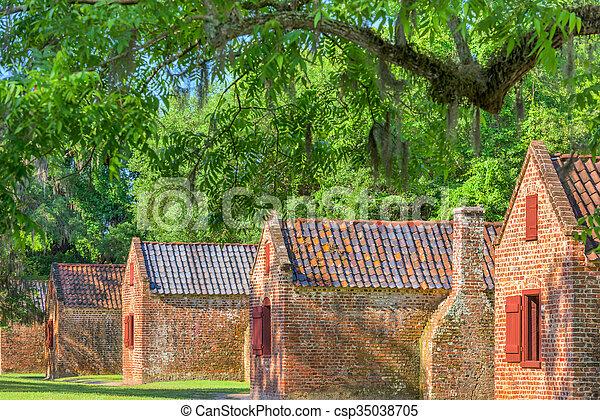 Historic Slave Quarters - csp35038705