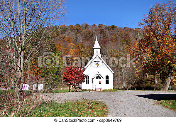 Historic small church - csp8649769