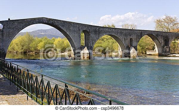 Historic stone bridge of Arta at Greece - csp3496678