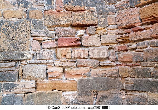 historic stone wall detail - csp29816991