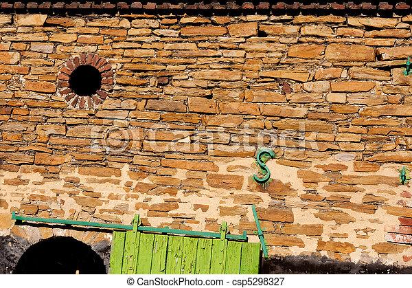Historic stone wall - csp5298327