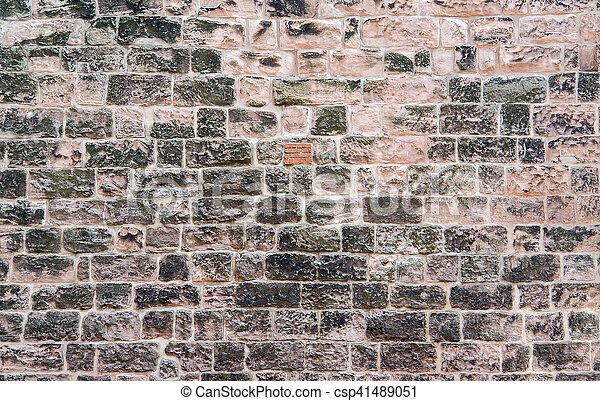 historic stone wall - csp41489051