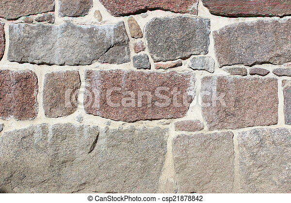 Historic stone wall - csp21878842