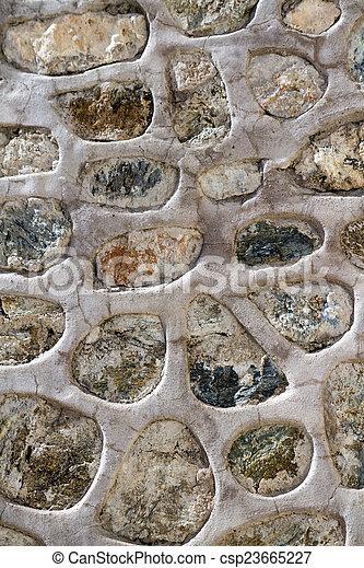 Historic Stone Wall Texture - csp23665227