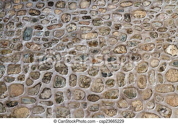Historic Stone Wall Texture - csp23665229