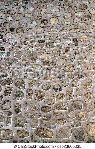 Historic Stone Wall Texture - csp23665335