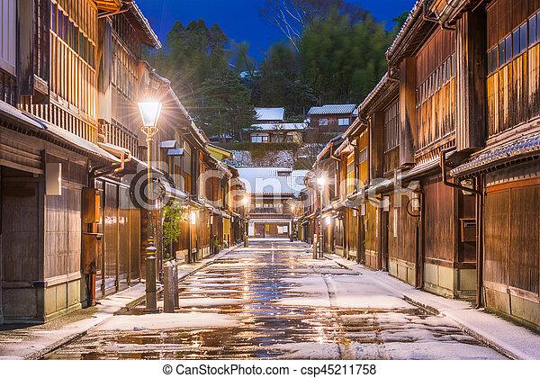 Historic Streets of Kanazawa Japan - csp45211758