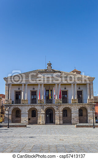Historic town hall on the main square of Toro - csp57413137