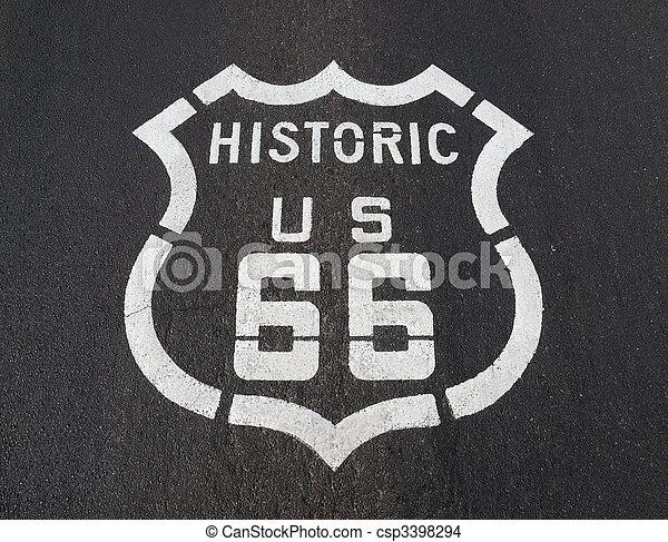 Historic US 66 - csp3398294