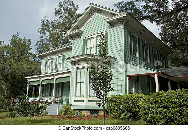 Historic Victorian Home - csp0805668