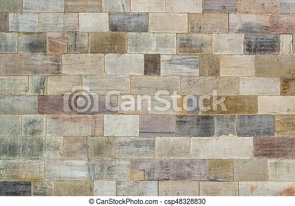 historic wall detail - csp48328830