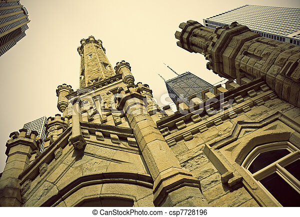 Historic Water Tower in Chicago - csp7728196