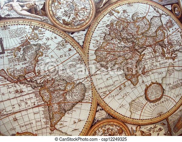 Historic World Map Background World Map Th Century Clip Art - 17th century world map