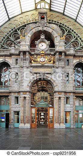 Historical Antwerpen-Centraal railway station - csp9231956