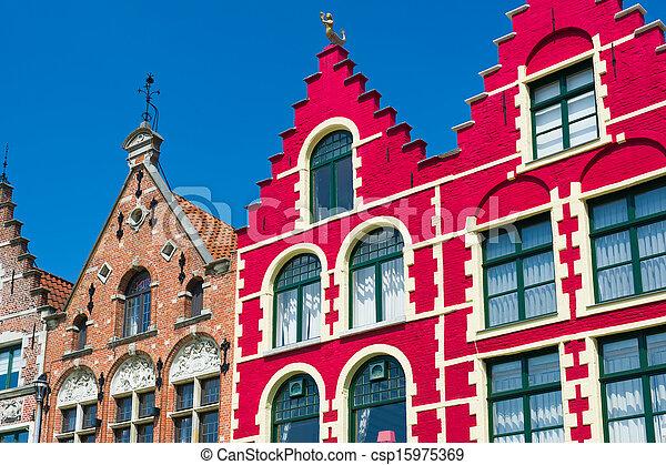 Historical buildings in Bruges - csp15975369