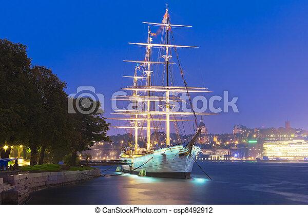 Historical ship ''AF Chapman'' in Stockholm, Sweden - csp8492912