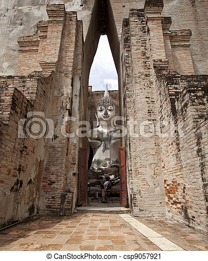 Historical temple park in Thailand. - csp9057921