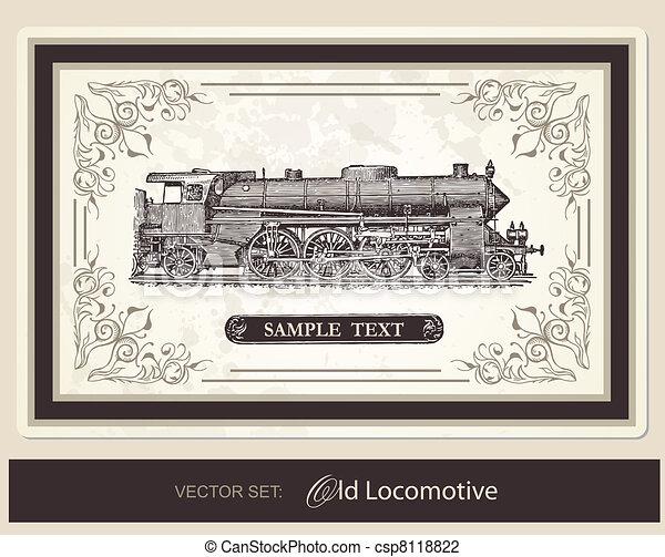 historical, trains - vector set - csp8118822