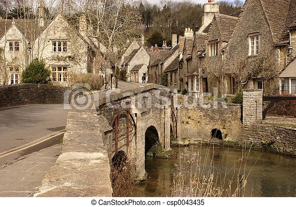 historique, village - csp0043435