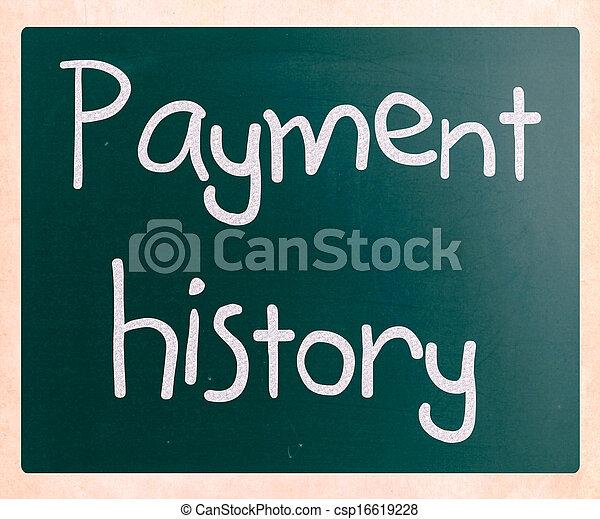 "history"", 黒板, チョーク, ""payment, 白, 手書き - csp16619228"