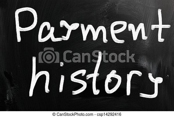 "history"", 黒板, チョーク, ""payment, 白, 手書き - csp14292416"