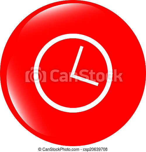 History icon on glossy green round button - csp20639708