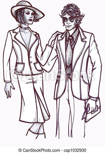 History of Fashion: 70s c - csp1032930