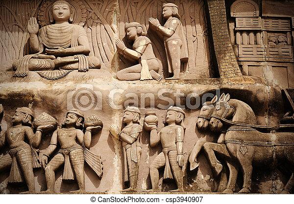 historyczny, indianin, architektura - csp3940907