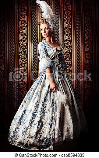 historyczny, kostium - csp8594833