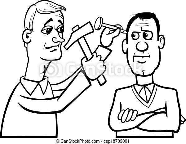 Hit The Nail On Head Cartoon