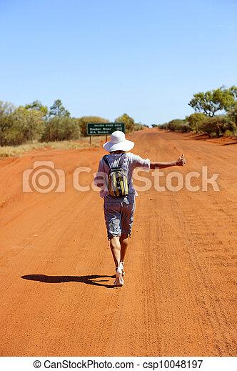 hitchhiker, outback, austrália - csp10048197