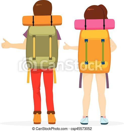 Hitchhiking Tourism Back - csp45573052