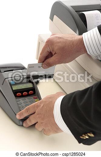 hitel, lebonyolítás, part, vagy, kártya - csp1285024