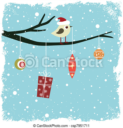hiver, carte - csp7951711