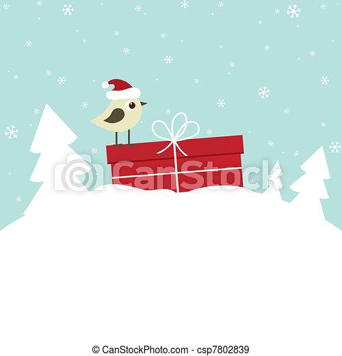 hiver, carte - csp7802839