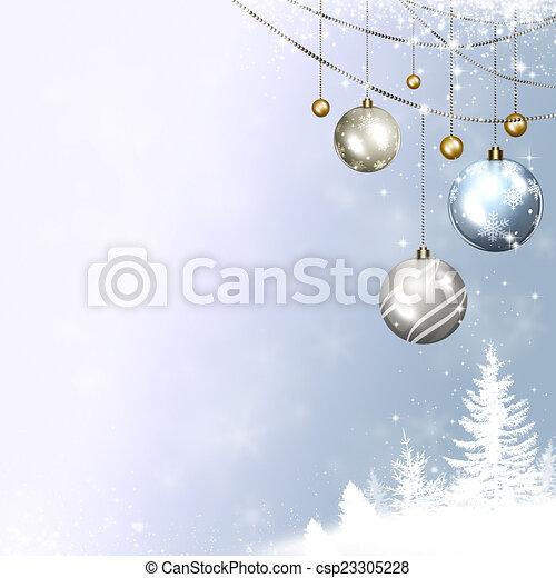 hiver, fetes - csp23305228