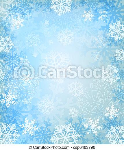hiver, fond - csp6483790