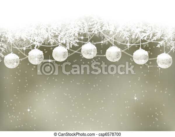 hiver, fond - csp6578700