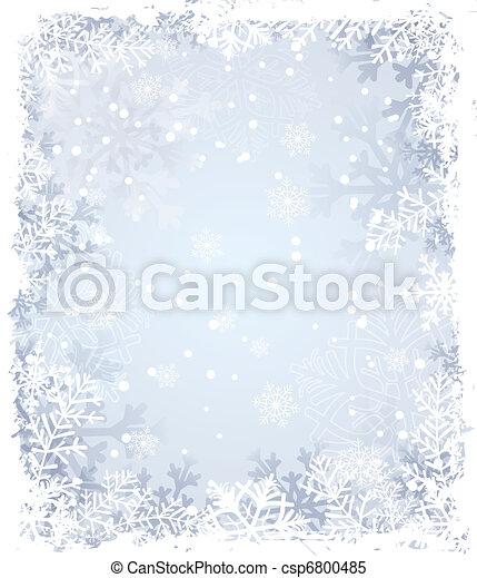 hiver, fond - csp6800485