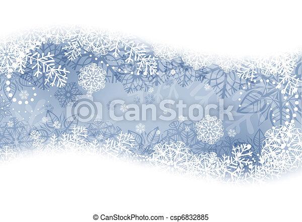 hiver, fond - csp6832885