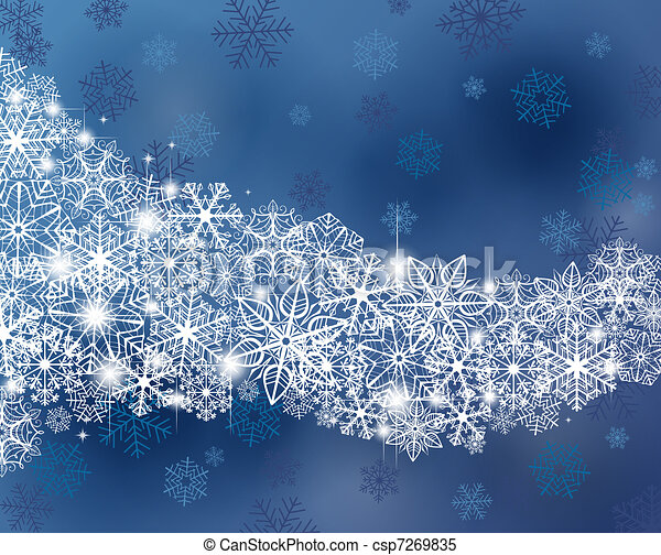 hiver, fond - csp7269835