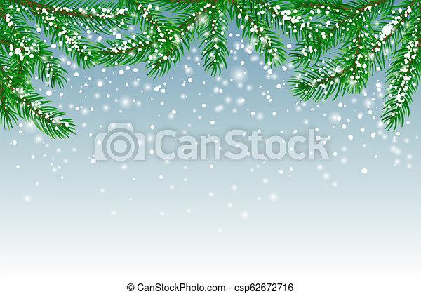 hiver, fond - csp62672716