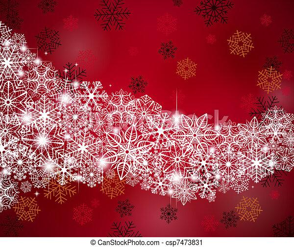 hiver, fond - csp7473831