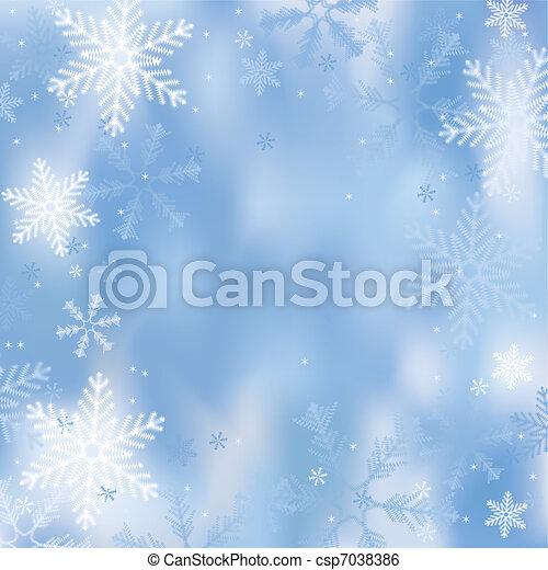hiver, fond - csp7038386