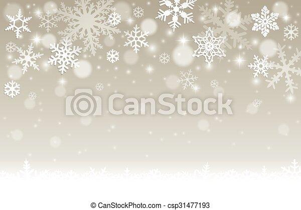 hiver, fond - csp31477193