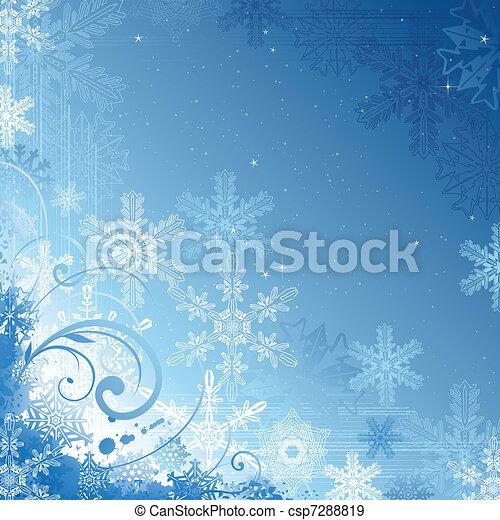 hiver, fond - csp7288819