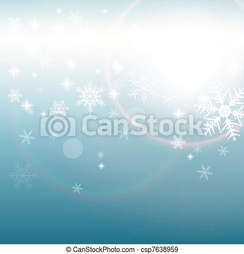 hiver, fond - csp7638959