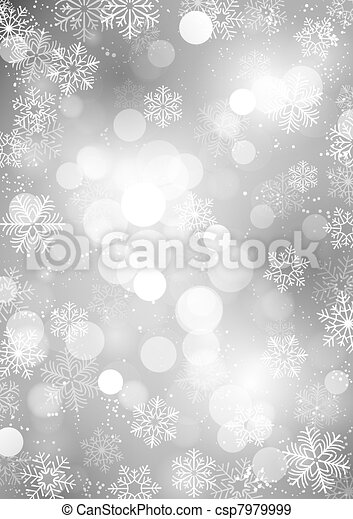 hiver, fond - csp7979999