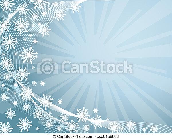 hiver, fond - csp0159883