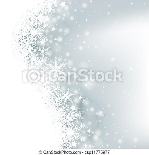 hiver, fond - csp11775977